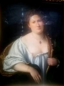 Tintoretto - Donna che aore la veste