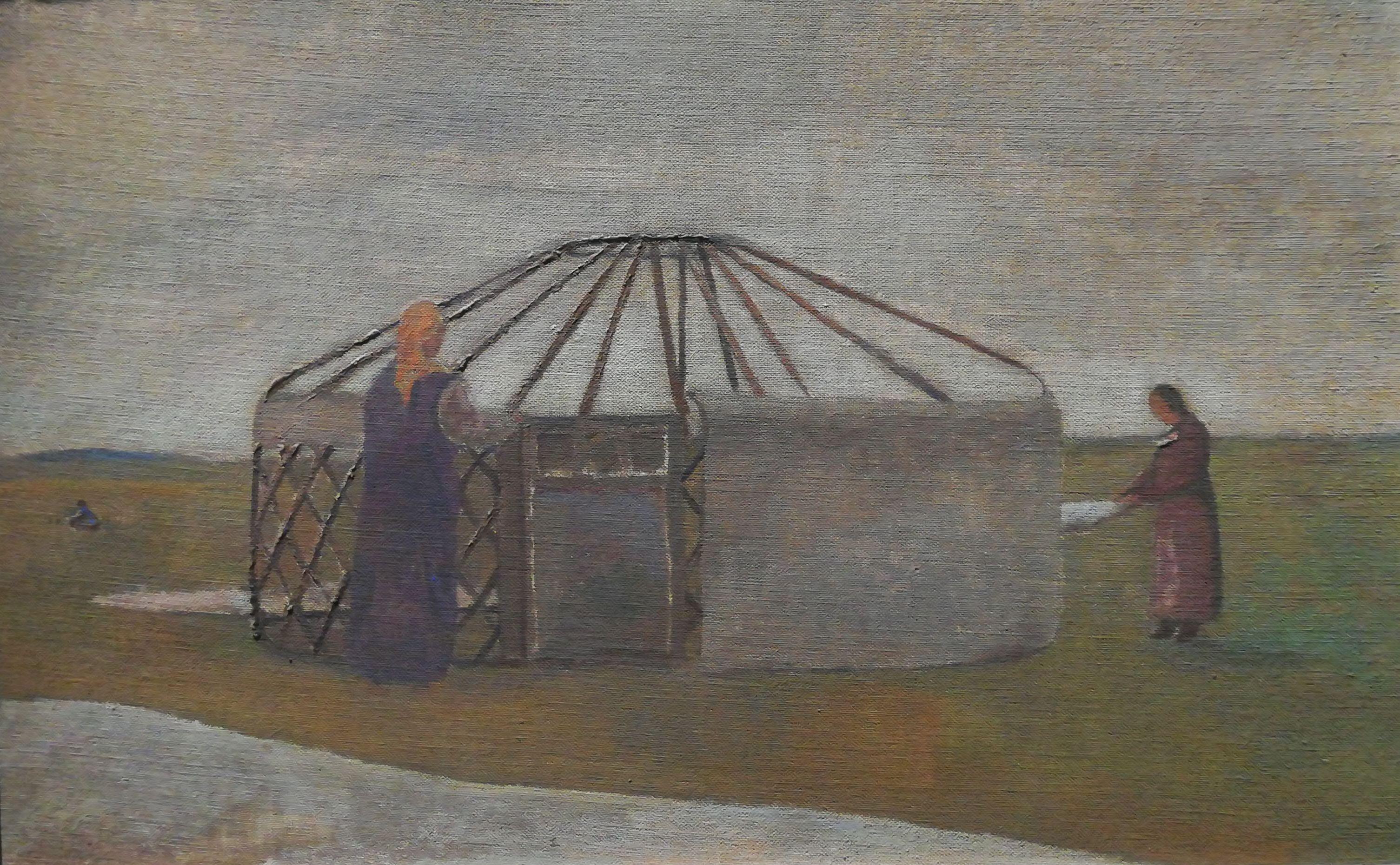 Yurta mongola- 2007. Tempera