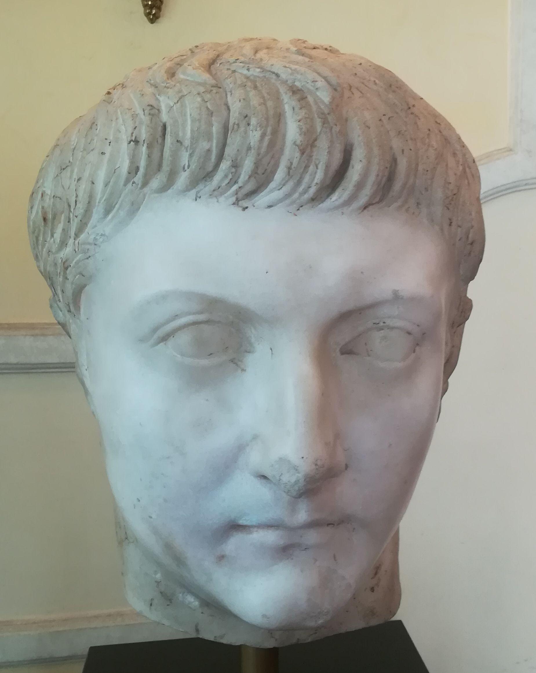 Testa marmorea di Druso Minore - Opera del I^ sec. d.C.