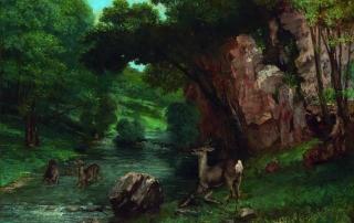 Courbet Caprioli alla fonte