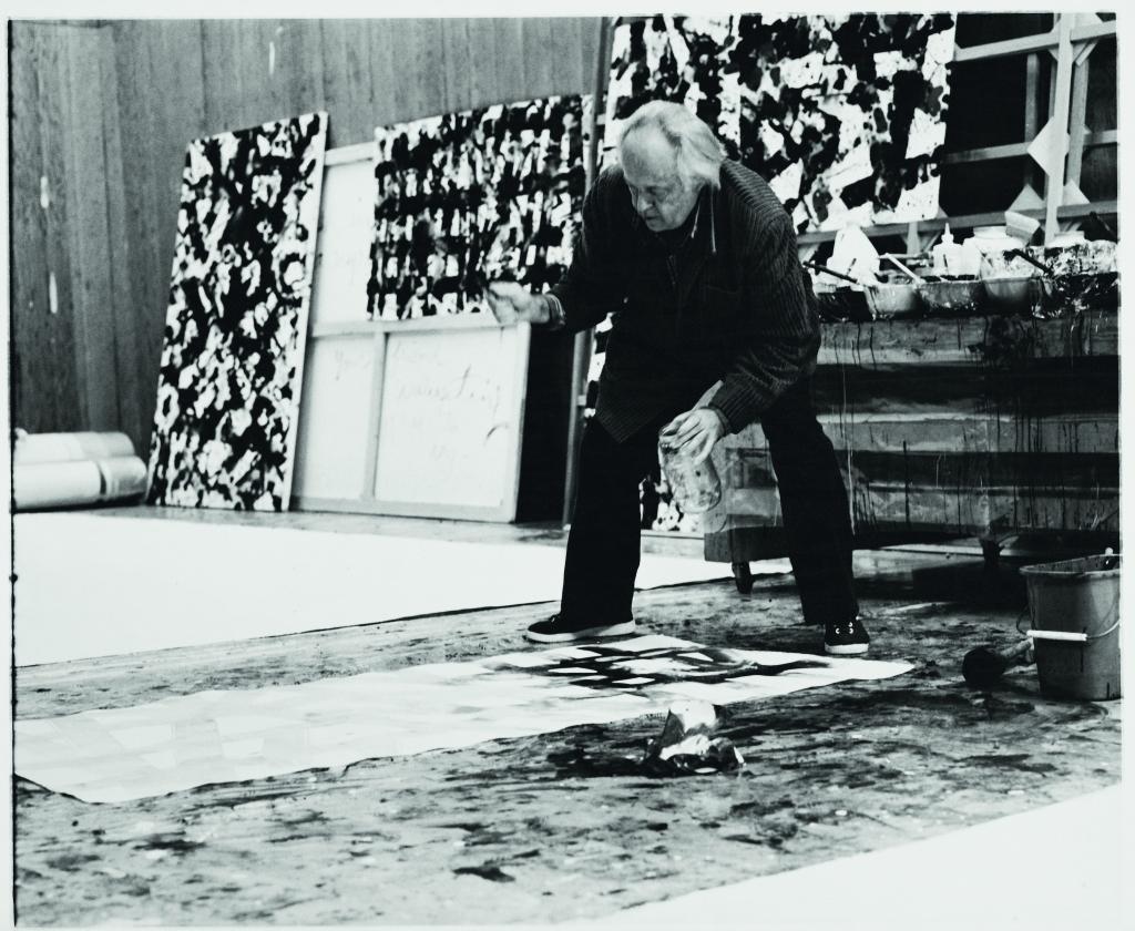 Sam Francis (1923 – 1994) Maler Foto: François Meyer, 1977 in Santa Monica