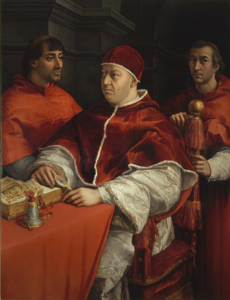 Raffaello Sanzio -Ritratto di papa Leone X-min