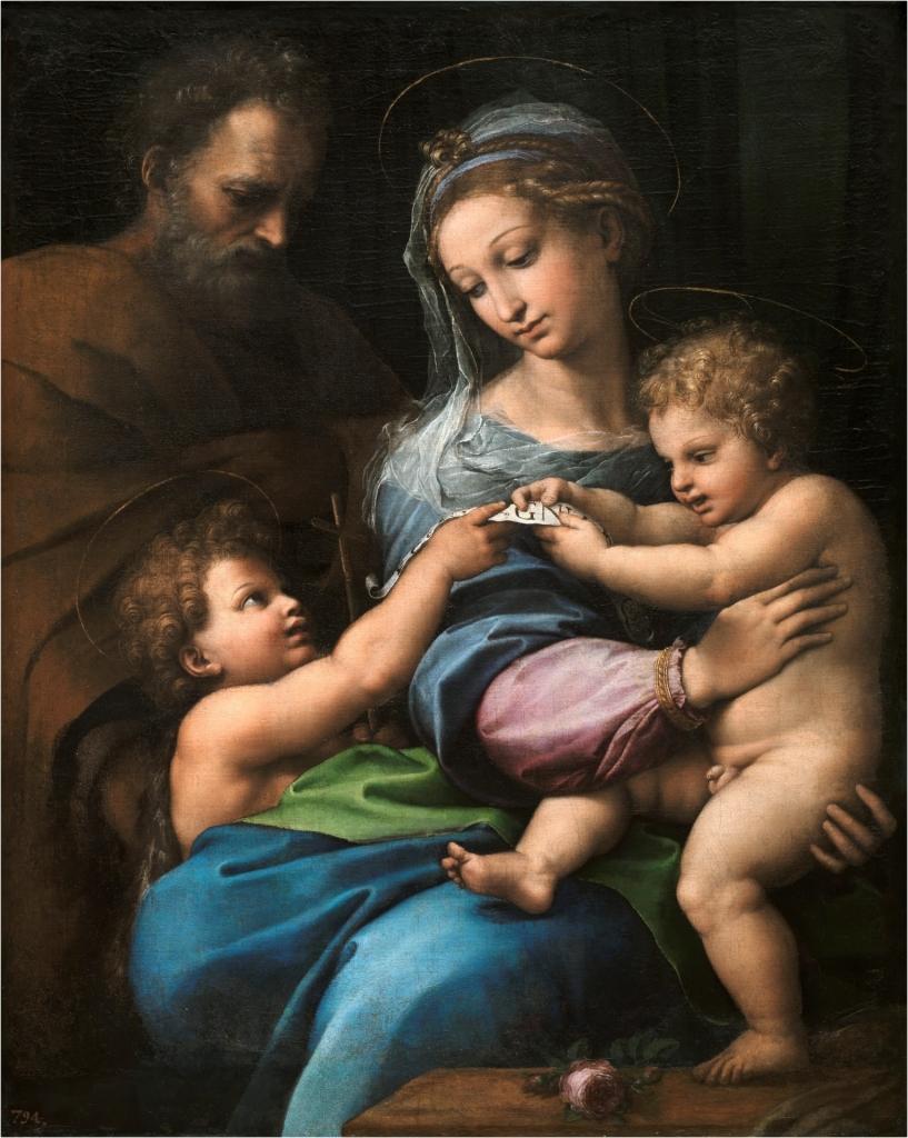 Sagrada Familia con San Juanito, o Virgen de la rosa